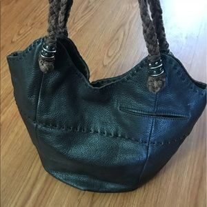The Sak Brown Leather Bucket Bag 💼